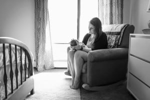 at home family newborn baby photographer in mn