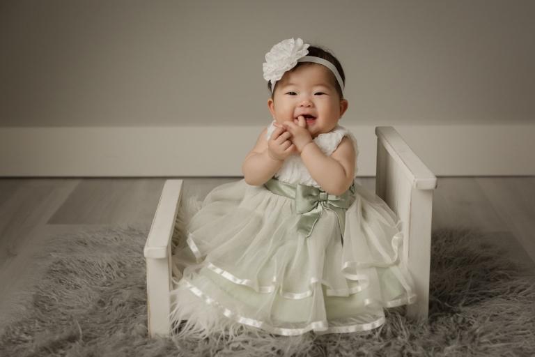 six month old baby girl minneapolis baby studio