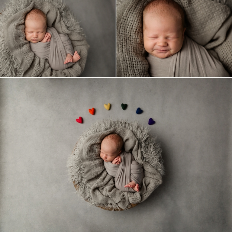rainbow baby images from a posed newborn session
