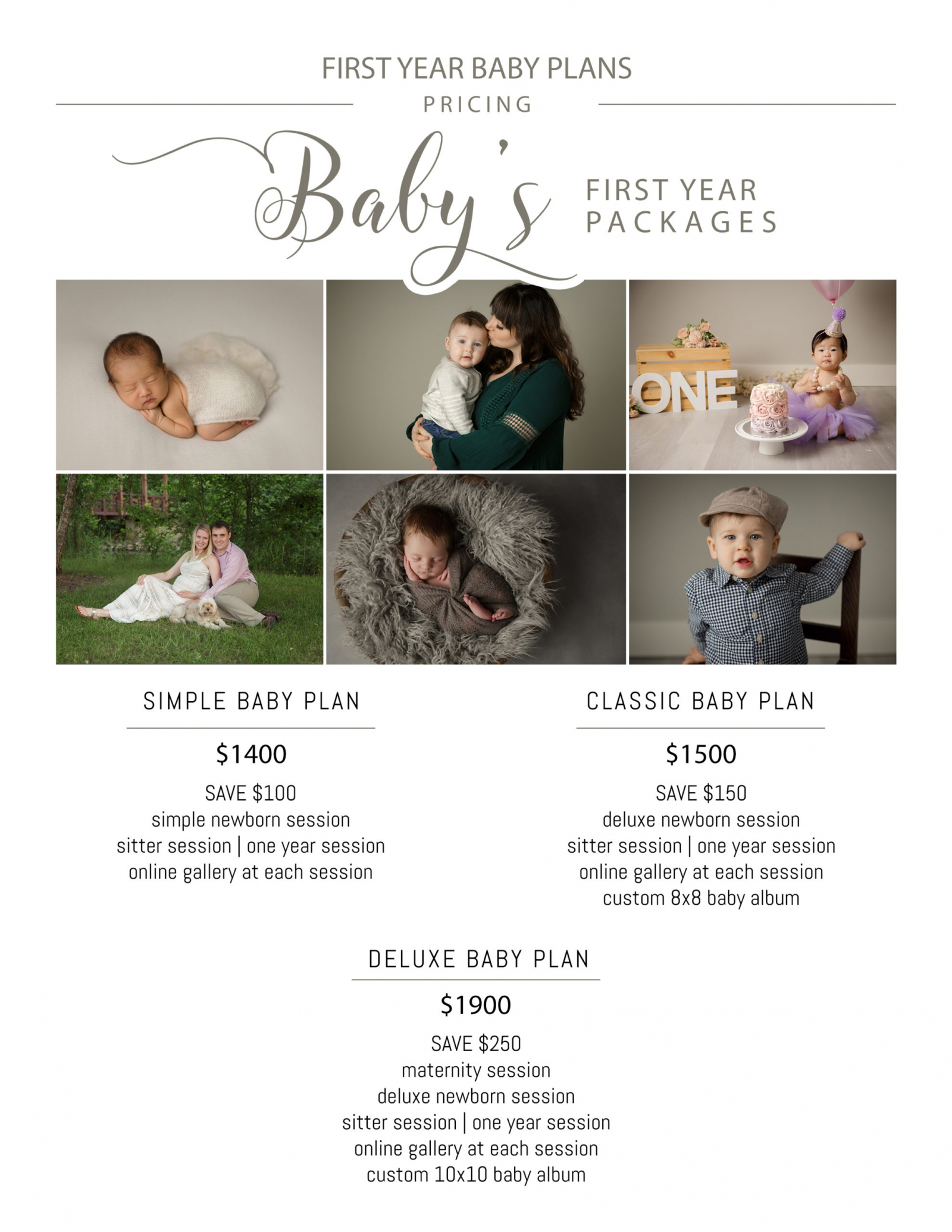 first year photography packages minneapolis mn